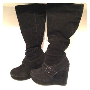 Madden Girl Wedge Knee Boots